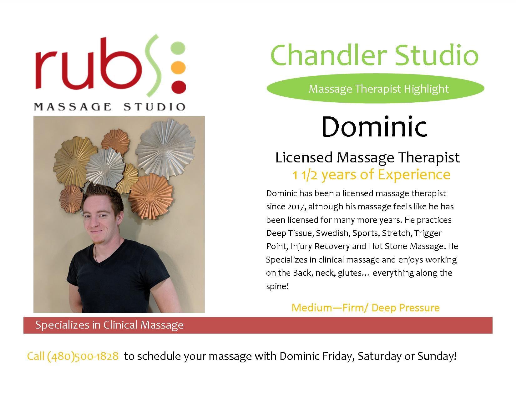 massage chandler therapist - dominic