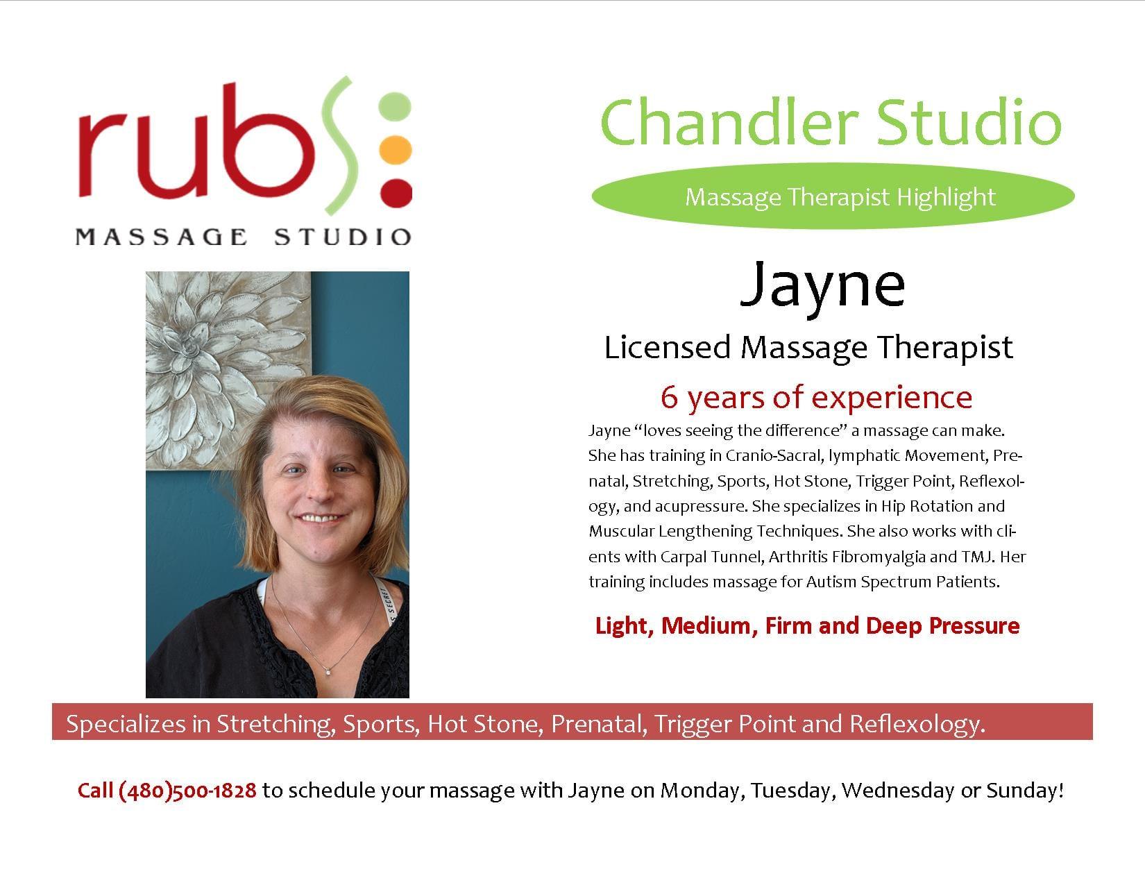 massage chandler therapist - jayne