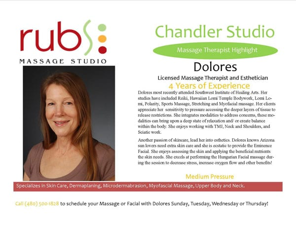 massage chandler therapist - dolores