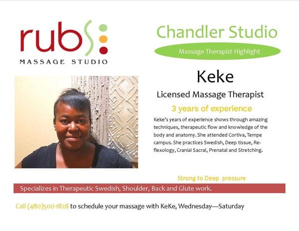 massage chandler therapist - keke
