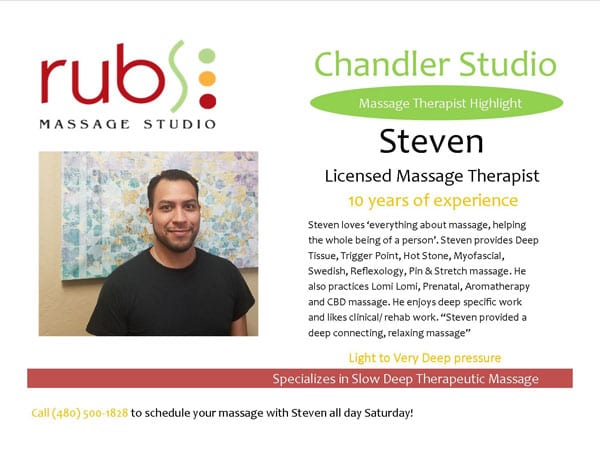 massage chandler therapist - steven