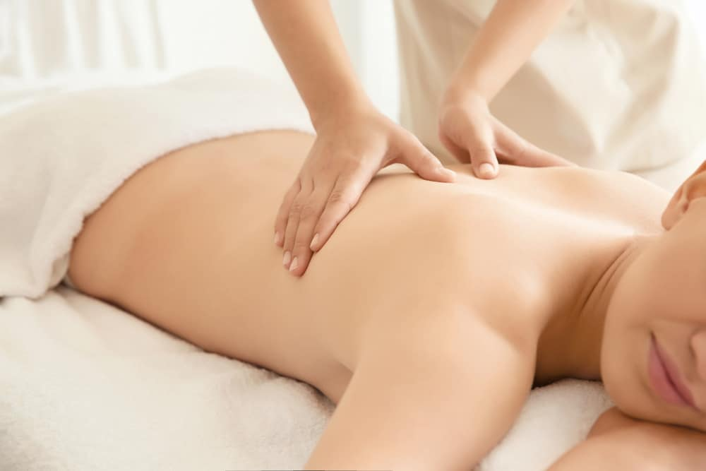 woman getting massage wilmot