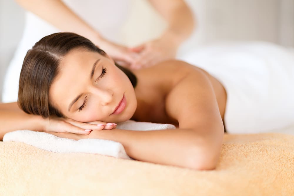 woman getting massage wrightstown