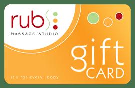 rubs massage studio gift card