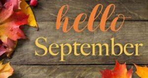 hello september fall leaves